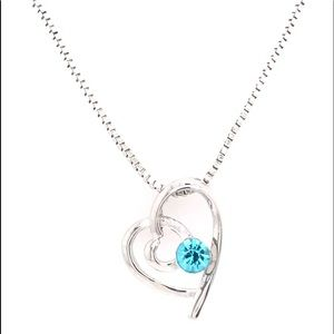 Infinity Double Heart Swarovski Pendant